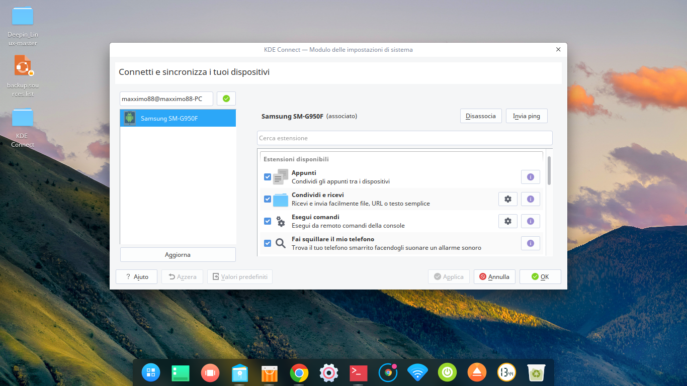 KDE Connect su Debian e derivate (Deepin)!